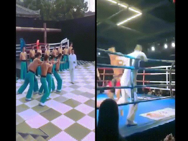 """Cao thủ """"võ điện giật"""" Chu Xuân Bình bị võ sỹ MMA 1 đấm đã ngất"""