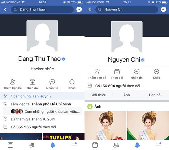 Facebook Đặng Thu Thảo, Khả Ngân, Nam Thư... bị hack - 1