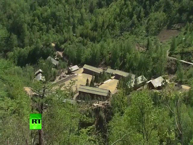 Video đầu tiên vụ đánh sập bãi thử hạt nhân Triều Tiên