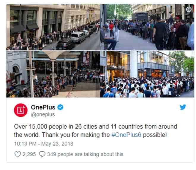 """Hơn 15.000 người đội mưa để mua OnePlus 6, """"hot"""" hơn iPhone X - 1"""
