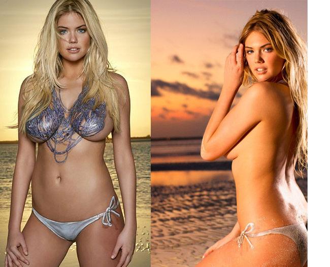 Đây là thành quả của quá trình 5 tiếng vẽ tỉ mẩn. Cô gây được ấn tượng mạnh kể từ những bộ hình bikini đầu tiên cho tạp chí SI.