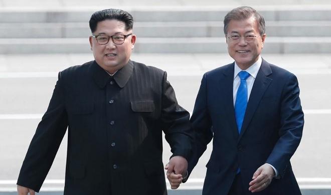 Kim Jong-un bất ngờ gặp Tổng thống Hàn Quốc lần hai - 1