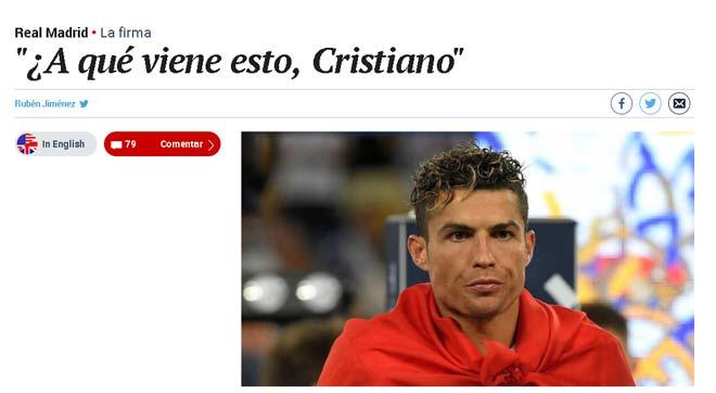Real vô địch C1: Báo chí quay mặt với Ronaldo, người Barca cũng nể phục - 1