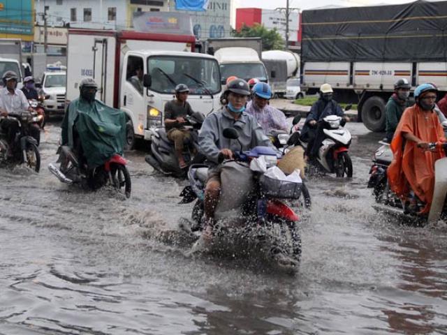 """Hình ảnh không ngờ tại con đường chưa từng """"tụ nước"""" ở SG"""