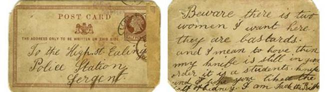 Bưu thiếp của kẻ giết người hàng loạt được trả giá tới hơn 680 triệu đồng - 1