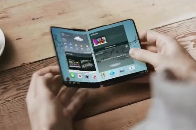 Smartphone có thể gập lại của Samsung lộ thông tin thú vị - 1