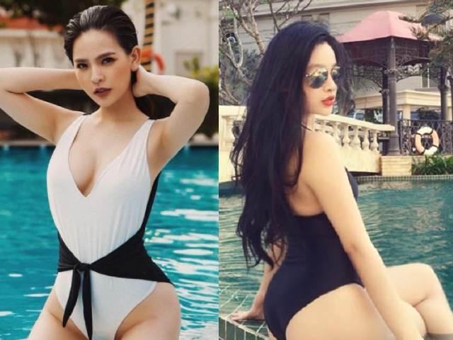 Hot girl Mì Gõ, Midu, Elly Trần mặc áo tắm hot ngang ngửa các đàn em 9X