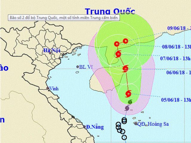Bão số 2 đổ bộ Trung Quốc, một số tỉnh miền Trung cấm biển
