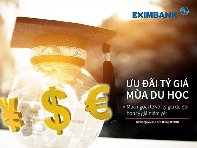 """Eximbank triển khai chương trình khuyến mại """"Ưu đãi tỷ giá mùa du học"""" - 1"""