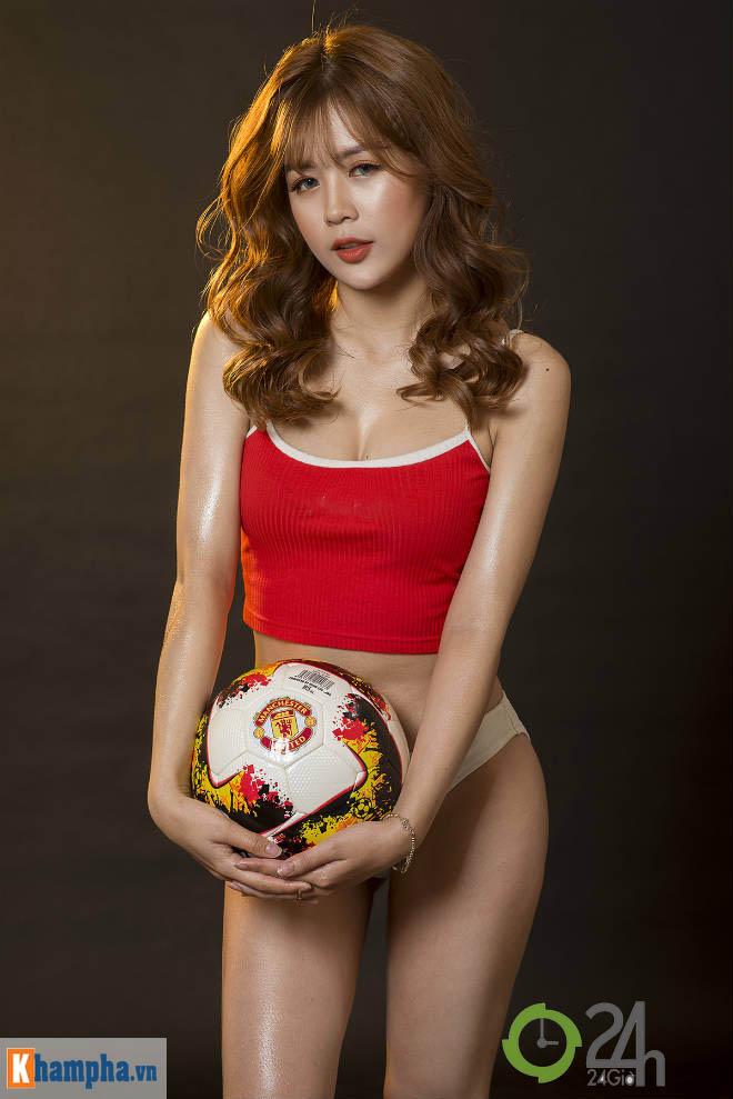 """Hot girl ảnh nóng Dương """"kẹo"""" muốn điều bất ngờ cho Pogba và tuyển Pháp - 1"""