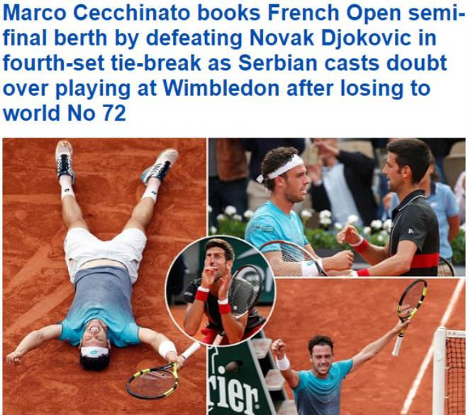 Địa chấn Roland Garros: Djokovic bị loại, báo chí sốc với tay vợt từng bán độ - 1