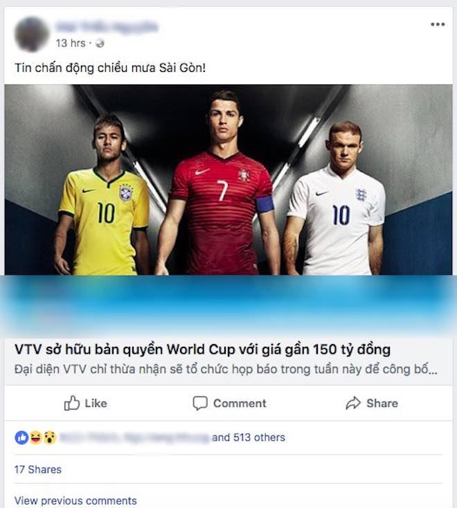 Dân mạng rần rần chia sẻ thông tin VTV đã mua bản quyền World Cup: Đâu là sự thật? - 1