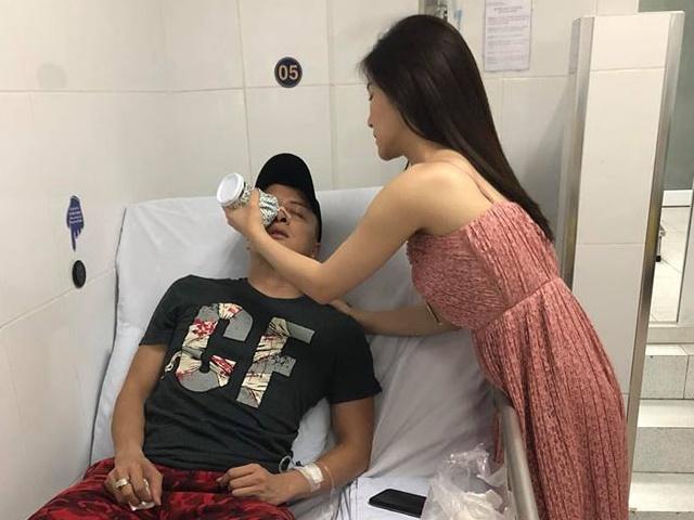 """Hương Tràm vào viện chăm Cao Thái Sơn sau đêm cấp cứu """"chết đi sống lại"""""""