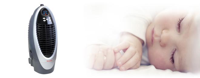 Mày làm mát không khí bằng hơi nước giúp bé ngủ ngon trong mùa nóng - 1