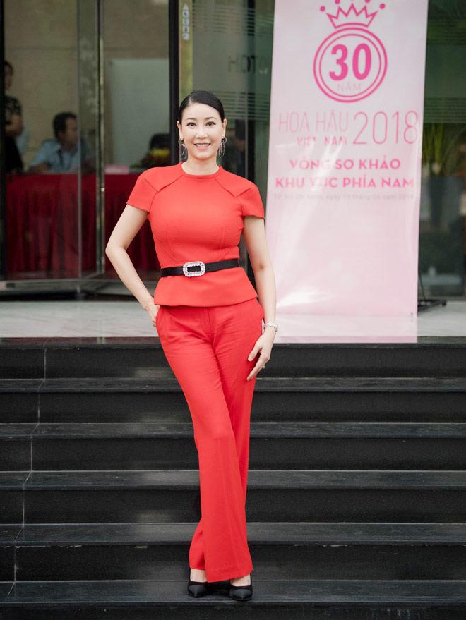 Hà Kiều Anh chấm thi Hoa hậu Việt Nam 2018 cùng Mỹ Linh - 1