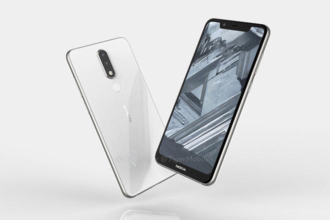 Nokia 5.1 Plus bị rò rỉ với màn hình tai thỏ, camera kép phía sau - 1