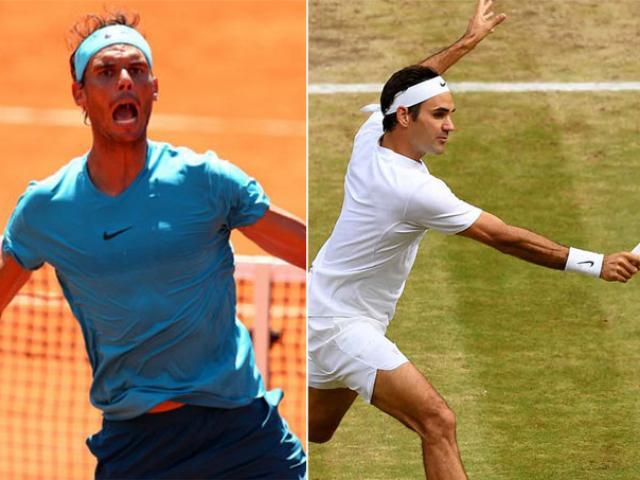 """Bảng xếp hạng tennis 11/6: Nadal ung dung trên đỉnh, Federer vào """"tử địa"""""""