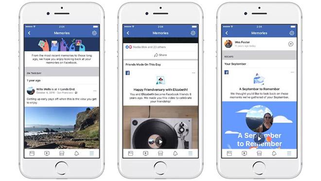 Facebook ra mắt Memories giúp ôn lại kỷ niệm xưa - 1