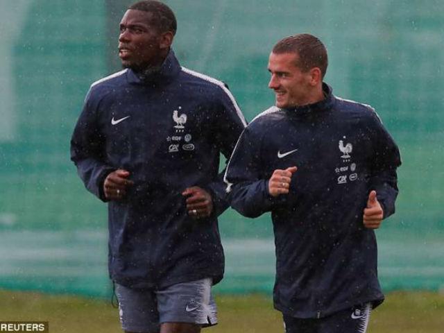 """Pháp đổ bộ Moscow đá World Cup: Pogba kết nối """"tam giác vàng"""" tập bắn"""