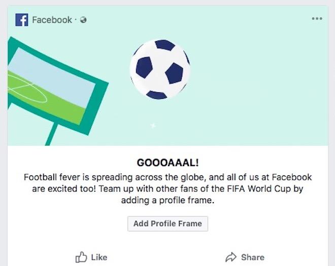 Thủ thuật Facebook: Cách thay ảnh đại diện đón World Cup 2018 - 1