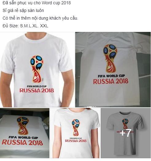 Áo phông in hình cầu thủ, cúp vàng đắt khách mùa World Cup 2018 - 1