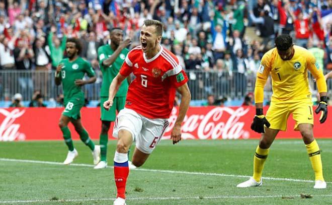 """Nga - Saudi Arabia: Tiệc """"5 sao"""" rực rỡ, cựu SAO Real bùng nổ (World Cup 2018) - 1"""
