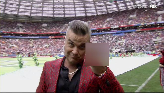 """""""Ngón tay thối"""" khiến truyền hình phải xin lỗi về lễ khai mạc World Cup - 1"""