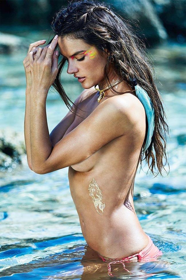 Đồng nghiệp và cũng là đồng hương của cô Alessandra Ambrosio cũng có mặt trong danh sách.