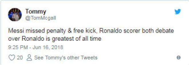 Messi đá penalty kém Ronaldo: Fan tuyên bố hạ màn đại chiến 10 năm - 1