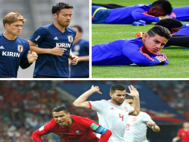 """Đấu Colombia, Nhật Bản sợ SAO Bayern """"vấp cỏ"""" như Ronaldo"""