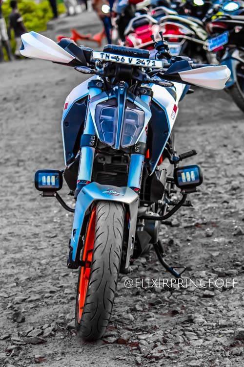 KTM Duke 390 độ màu bạc rực rỡ của Elixir Prince - 1