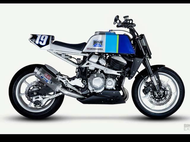 Kawasaki Z800 độ flat track, mang đậm chất phong cách thập niên 80