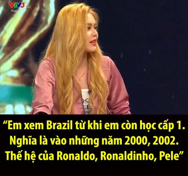"""Hot girl Việt lên sóng World Cup """"gây bão"""": Pele cùng thời Ronaldo, Ronaldinho - 1"""