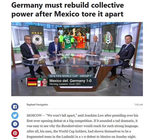 Chấn động World Cup, Đức gục ngã: Báo thế giới xát muối, đưa ra dớp đáng sợ - 1