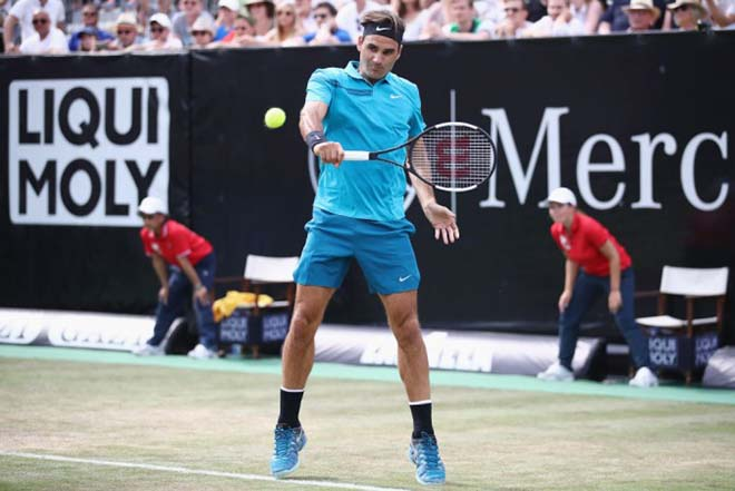 Federer - Bedene: Sức mạnh nhà vua, 2 set chóng vánh (Vòng 1 Halle Open) - 1