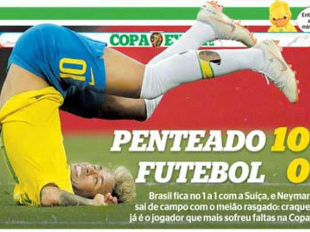 Truyền thông Brazil bất ngờ chỉ trích Neymar thậm tệ