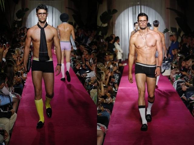 Show bí mật toàn trai đẹp mặc đồ ngủ của Dolce & Gabbana