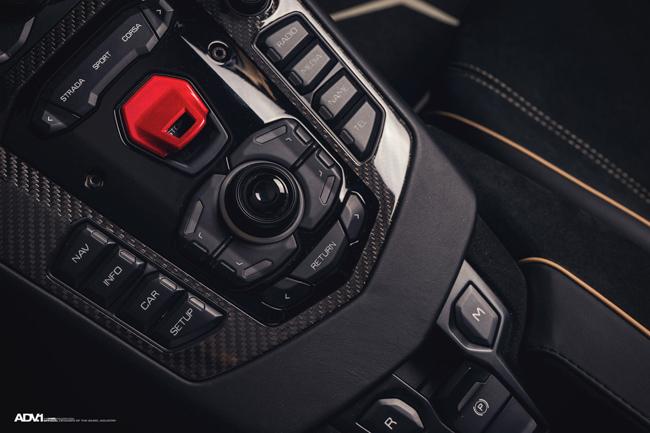 Nội thất Lamborghini Aventador SV Roadster.