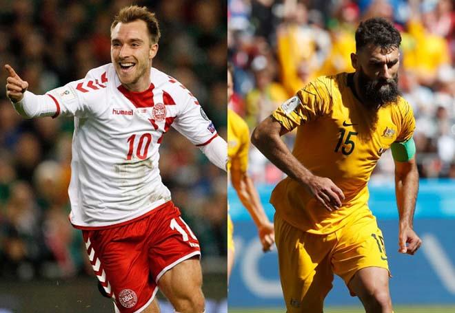 """Đan Mạch - Australia: Trên vai Eriksen 72 triệu bảng, """"Lính chì"""" quyết thắng (World Cup 2018) - 1"""