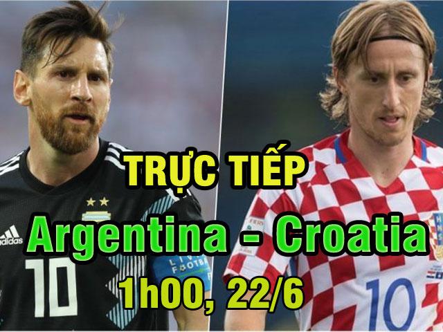 Trực tiếp bóng đá World Cup Argentina - Croatia: Ai hỗ trợ Messi?