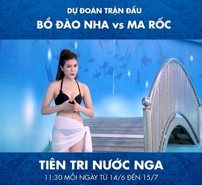 Nữ MC Việt diện bikini dẫn chương trình dự đoán World Cup - 1