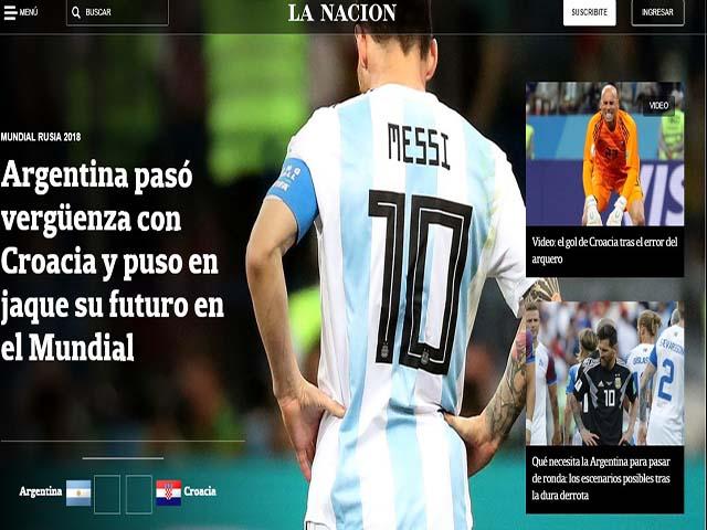 """Argentina chấn động World Cup: Báo chí """"tổng sỉ vả"""" Messi, """"hỏa thiêu"""" tội đồ Caballero"""