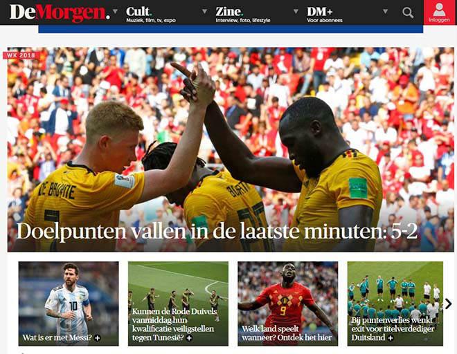 """ĐT Bỉ hủy diệt Tunisia: Báo Anh lo sợ """"Quỷ đỏ"""", tung hô Hazard - Lukaku - 1"""