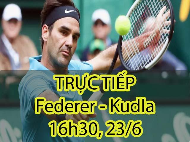TRỰC TIẾP tennis Federer – Kudla: Gương mặt ít gặp (Bán kết Halle Open)