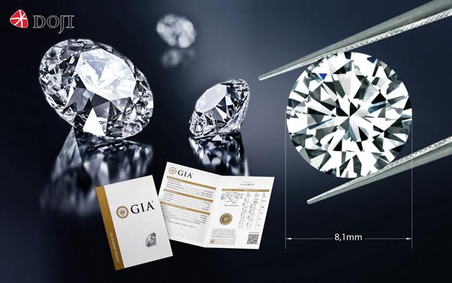 Kim cương viên kích thước đẹp 8,1 ly chỉ từ 450 triệu đồng - 1