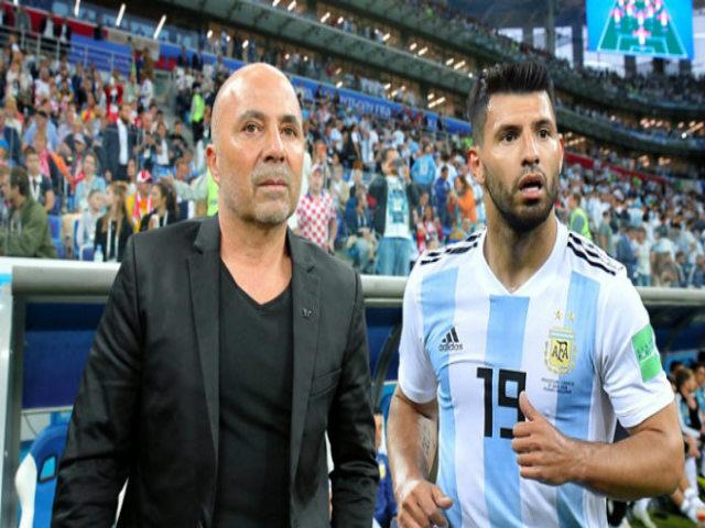 Chấn động Argentina: HLV Sampaoli nổi điên, cú sốc Aguero & Caballero