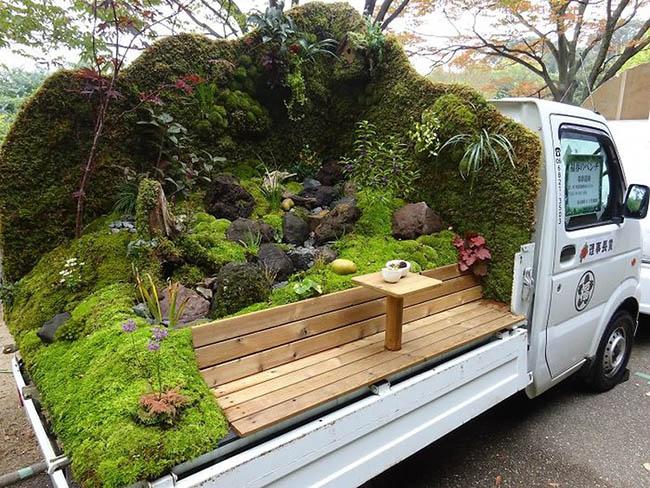 Mãn nhãn với những khu vườn xanh mát trên thùng xe tải ở Nhật Bản - 1