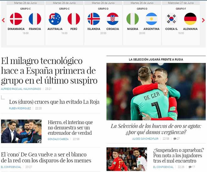 """Tây Ban Nha tránh """"tử địa"""" World Cup: Báo chí e ngại hàng thủ, ca ngợi """"phép màu"""" VAR - 1"""