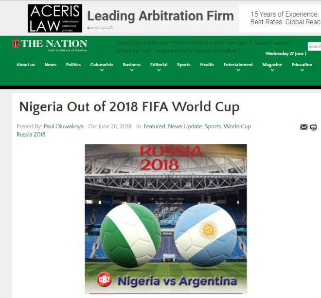 Argentina nghi án trọng tài: Báo Nigeria đòi 3 penalty, chê đội nhà dứt điểm kém - 1