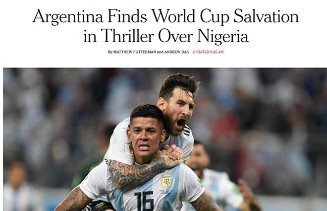 """Argentina sống sót ở World Cup: Báo chí thế giới tôn Messi là """"Thánh"""" - 1"""